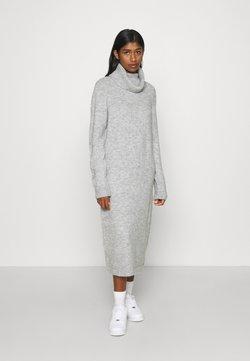 ONLY - ONLBRANDIE ROLL NECK DRESS - Strikkjoler - light grey melange