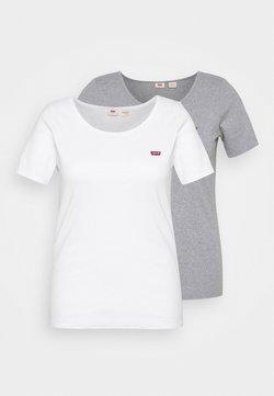 Levi's® Plus - TEE 2 PACK  - T-shirt - bas - white/grey