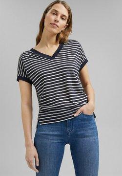Esprit Collection - MIT STREIFEN - T-Shirt print - navy