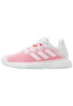 adidas Performance - SOLEMATCH BOUNCE - Zapatillas de tenis para todas las superficies - footwear white/signal pink