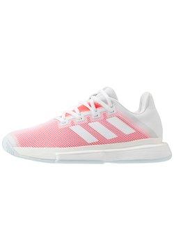adidas Performance - SOLEMATCH BOUNCE - Multicourt Tennisschuh - footwear white/signal pink