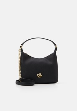 DKNY - CAROL MINI POUCHETTE - Handtasche - black/gold-coloured