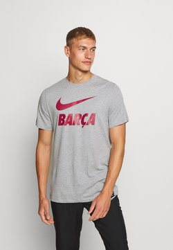 Nike Performance - FC BARCELONA TEE GROUND - Klubtrøjer - dark grey heather