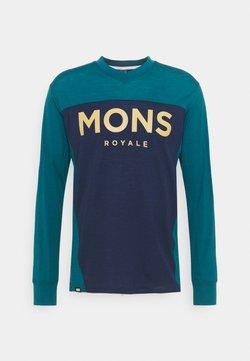 Mons Royale - REDWOOD ENDURO - Langarmshirt - deep teal/navy
