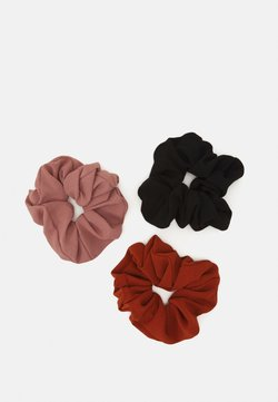 Even&Odd - 3 PACK - Haar-Styling-Accessoires - black/light pink/orange