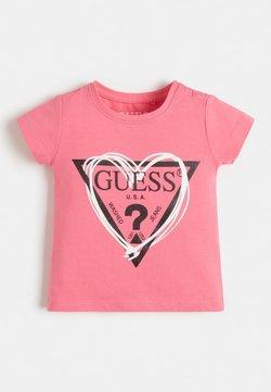 Guess - GLITZER-FRONTLOGO - T-Shirt print - weiß