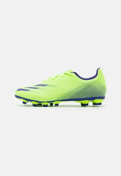 adidas Performance - X GHOSTED.4 FOOTBALL FIRM GROUND - Moulded stud football boots - signal green/energy ink