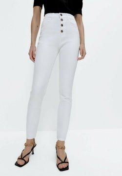 Uterqüe - Jeans Skinny Fit - white