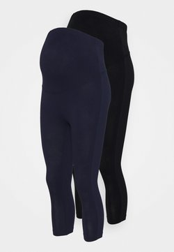 Anna Field MAMA - 2 PACK - Legging - black/dark blue