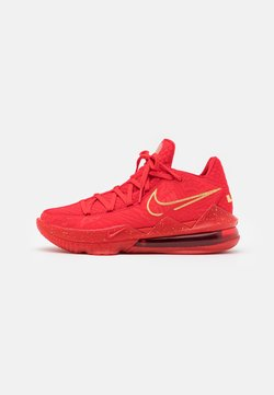 Nike Performance - LEBRON XVII LOW - Indoorskor - university red/metallic gold