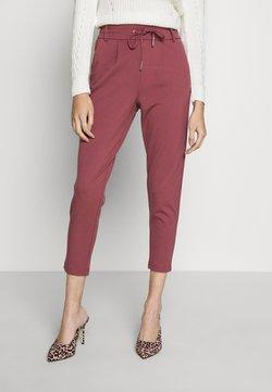 ONLY Petite - ONLPOPTRASH EASY COLOUR PANT - Stoffhose - dark red