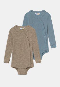 Joha - SIDECLOSING 2 PACK UNISEX - Body / Bodystockings - blue/mottled light brown
