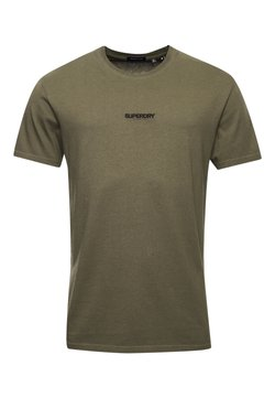 Superdry - MICRO LOGO BOX FIT - T-shirt con stampa - deep olive