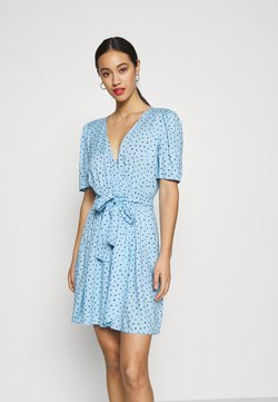 Monki - PING DRESS - Day dress - blue light irrydot