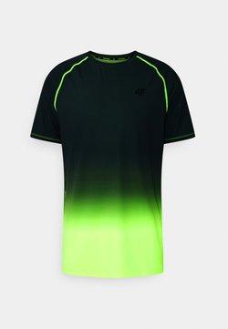 4F - Men's training T-shirt - T-Shirt print - khaki/yellow
