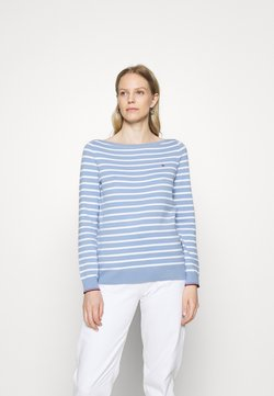 Tommy Hilfiger - NEW IVY BOAT - Strickpullover - optic white/moonlbue