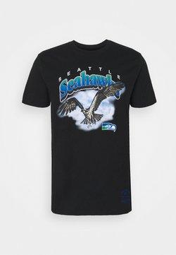 Mitchell & Ness - NFL SEATTLE SEAHAWKS ANIMAL TEE - Fanartikel - black
