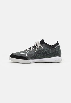 Puma - ULTRA 1.2 PRO COURT - Indoor football boots - black/glacier gray/elektro green/elektro pool