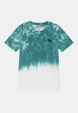 Abercrombie & Fitch - CURVED HEM - T-Shirt print - green