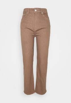 Selected Femme - SLFMARY STRAIGHT PANTS - Jeans Slim Fit - pine bark