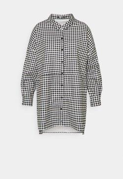 Missguided Plus - PLUS DIP BACK SHIRT DRESS CHECK - Vestido informal - black