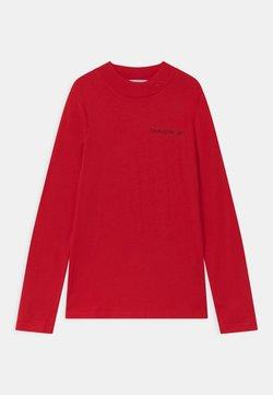 Calvin Klein Jeans - LOGO NECK  - Maglietta a manica lunga - red
