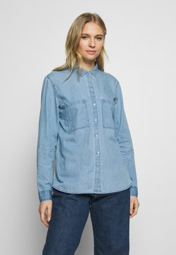 edc by Esprit - EASY BLOUSE - Skjorta - blue light wash