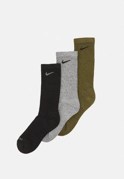 Nike Performance - EVERYDAY PLUS CUSH CREW 3 PACK UNISEX - Sportsocken - rough green/black/carbon heather/black/black/smoke grey