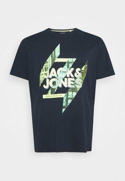 Jack & Jones - JJSPRING TEE CREW NECK - T-shirt imprimé - navy blazer