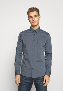 TOM TAILOR - FITTED EASYCARE SHIRT STRETCH - Hemd - navy stripe