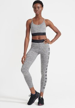 Superdry - Tights - grey marl