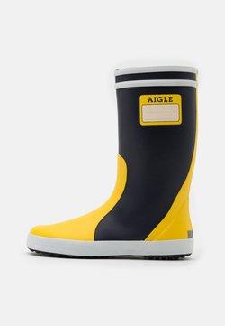 Aigle - LOLLY POP LABEL UNISEX - Botas de agua - indigo/jaune/blanc