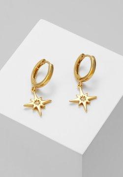 Orelia - STARBURST CHARM HUGGIE HOOPS - Earrings - gold-coloured
