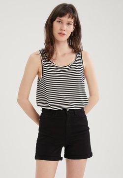 DeFacto - Jeans Shorts - black