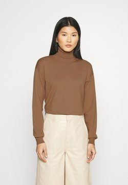 Anna Field - ROLL NECK- LOOSE FIT - Sweter - mottled brown