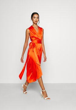 Never Fully Dressed - TANGERINE SLEEVELESS WRAP DRESS - Cocktailjurk - tangerine