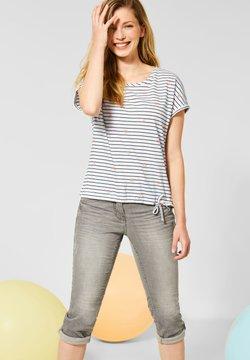 Cecil - MIT STREIFEN - T-Shirt print - weiß