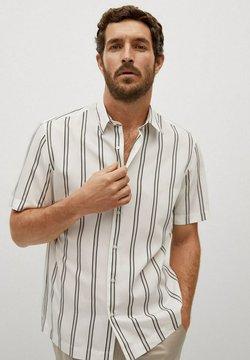 Mango - Camisa regular-fit fluida rayas - Skjorta - blanco