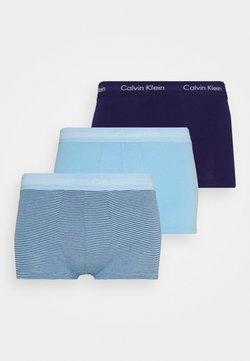 Calvin Klein Underwear - STRETCH LOW RISE TRUNK 3 PACK - Panties - blue