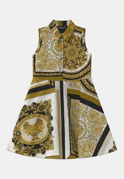 Versace - PRINT HERITAGE - Sukienka koszulowa - white/gold/kaki