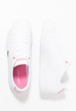 Lacoste - CARNABY EVO - Sneaker low - white/pink