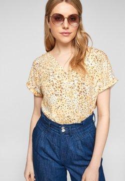 s.Oliver - T-Shirt print - sunlight yellow aop