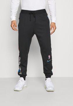 Nike Performance - NBA BROOKLYN NETS CITY EDITON THERMAFLEX PANT - Trainingsbroek - black/soar