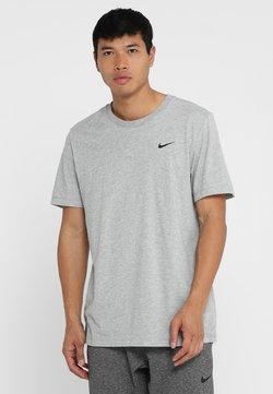 Nike Performance - DRY TEE CREW SOLID - T-paita - dk grey heather