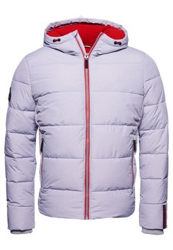 Superdry - SPORTS PUFFER - Winterjacke - grey marl/risk red