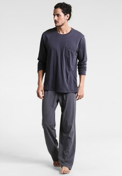 Schiesser - ANZUG LANG SET - Pyjamas - anthrazit