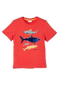 s.Oliver - MIT WENDEPAILLETTEN - T-Shirt print - dark orange