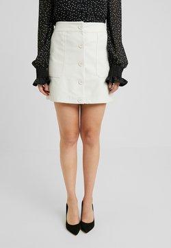 Lost Ink Petite - SNAKE MINI SKIRT - Mini skirt - white