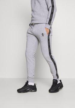 Gym King - WITH PRINTED TAPING - Jogginghose - grey marl /black