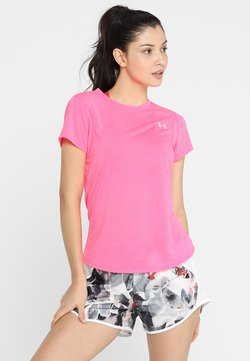 Under Armour - STREAKER SHORT SLEEVE - Camiseta básica - mojo pink/mojo pink/reflective